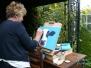 Schilderlessen in het atelier