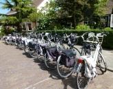 Veel bezoekers op de fiets